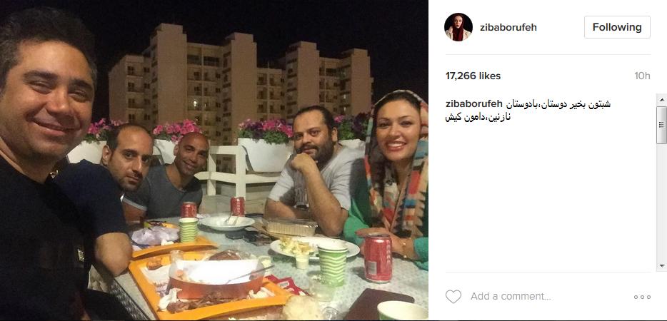 عکس|از زیبا بروفه و همسرش در یک ضیافت شام دوستانه!