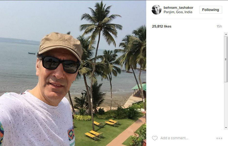 عکس تعطیلات آقای کمدین در جزایر هند!