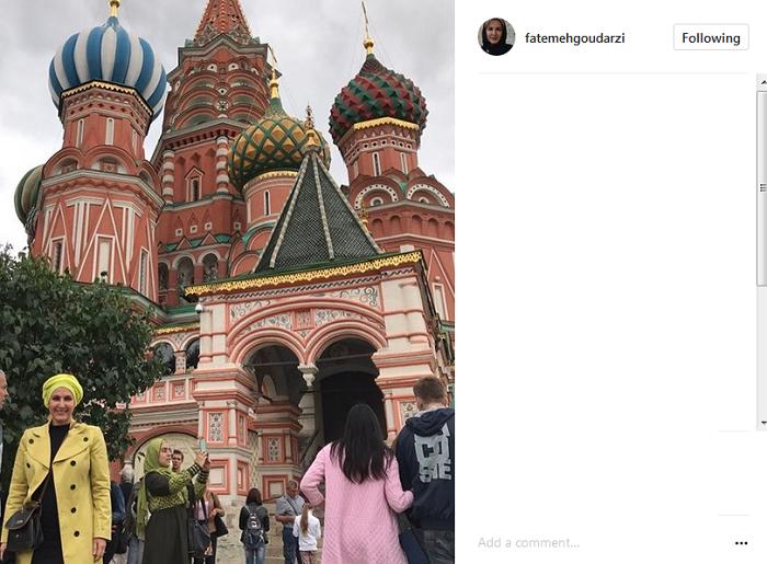 عکس|عکس زیبای خانم هنرپیشه سرشناس در مسکو!